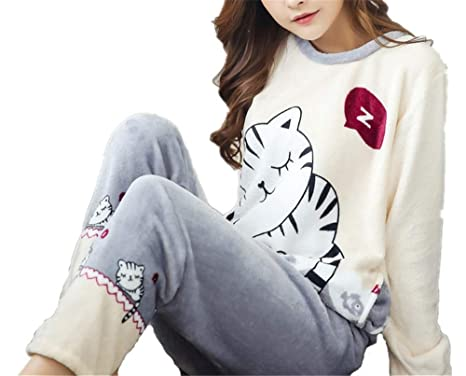 f7ee6f123 Tempatation Women's Sleepwear Fleece 2-Piece Zip Hoodie Pant Loungewear Pajamas  PJ Set at Amazon Women's Clothing store: