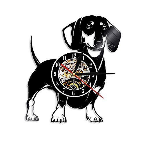 Crazypicky Dachshund Dog Vinyl Record Wall Clock Animals Wal