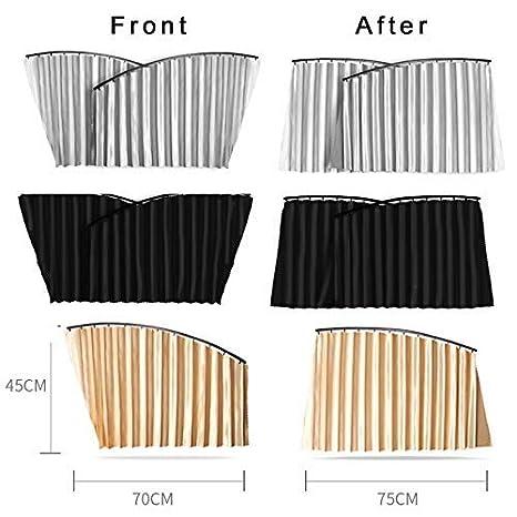 yangGradel Voiture Magn/étique Pare Soleil Complet Protection Anti-UV Rideaux Soleil Bloc Intimit/é Protection Nuances 1 Paire Rear Noir