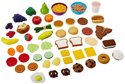 Learning Resources New Sprouts Complete Play Food Set, 50 (Classroom Play Food Set)