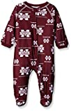 Outerstuff NCAA Mississippi State Bulldogs Newborn & Infant Raglan Zip Up Coverall, Maroon, 6-9 Months