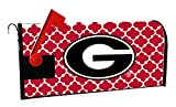GEORGIA BULLDOGS MAILBOX COVER-UNIVERSITY OF GEORGIA MAGNETIC MAIL BOX COVER-MOROCCAN DESIGN
