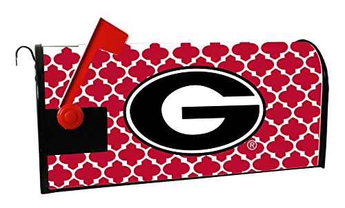 GEORGIA BULLDOGS MAILBOX COVER-UNIVERSITY OF GEORGIA MAGNETIC MAIL BOX COVER-MOROCCAN DESIGN (Georgia Bulldog Mailbox Cover)