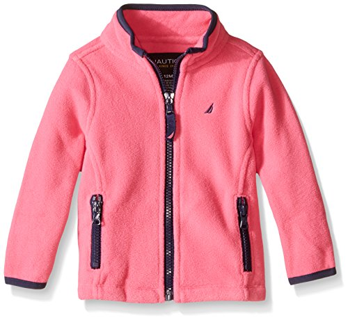 Nautica Baby Fleece Jacket With Contrast Piping Pink 18
