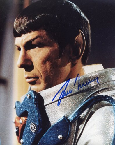 Leonard Nimoy Signed / Autographed Star Trek TOS 8x10 Glossy Photo As Spock. Includes Fanexpo Fanexpo Certificate of Authenticity and Proof. Entertainment Autograph Original. from Star League Sports