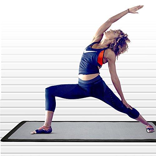 JIAYIBAO Tapis De Yoga Épaississement 8mm Élargissement Élevé TPE Tapis De Fitness Antidérapant (noir 173cmx61cm)