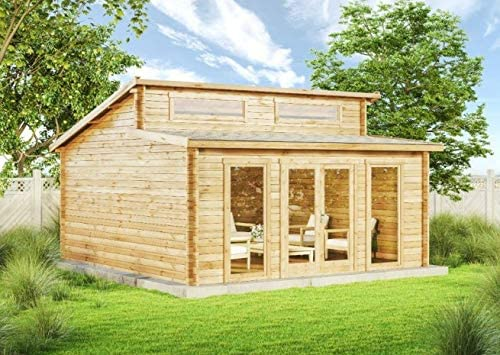 Carlsson – Casa de jardín de madera maciza Narvig-B con 40 mm de grosor de pared, casa de madera para jardín, incluye material de montaje, tamaño: 500 x 500 cm: Amazon.es: Jardín