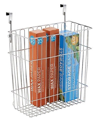 mDesign Hanging Over Door Kitchen Storage Organizer Basket/Trash Can - Hangs Over Cabinet Doors  sc 1 st  Amazon.com & Amazon.com: mDesign Hanging Over Door Kitchen Storage Organizer ...