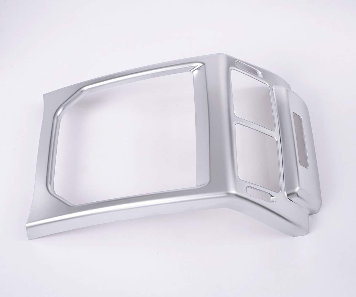 Interior Auto Fahrzeug Zubehö r, fü r Evoque 2014-2016, hintere Klimaanlage Outlet Frame Trim ABS Kunststoff Silber, 1 Stü ck/Satz ACCEMOD