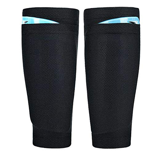 L Youth Teenager Shin Guard Sleeves for Soccer Sports