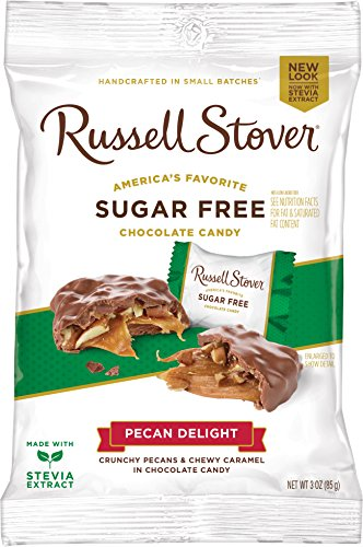 Pecan Free Candy Sugar - Russell Stover Sugar-Free Pecan Delight, 3 Ounce Peg Bag (Pack of 12)