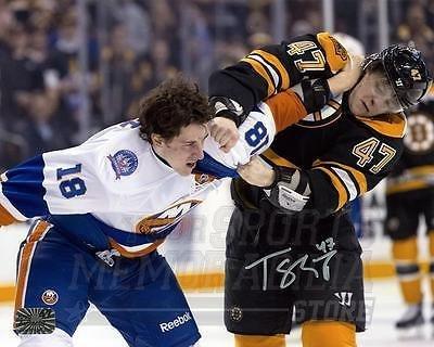 torey-krug-boston-bruins-signed-autographed-fight-vs-islanders-ryan-strome-8x10