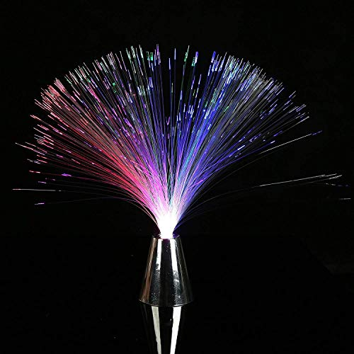Fun Central (M853), 6 Packs, 13 Inches Multicolor LED Fiber Optic Centerpiece, Light Up Centerpiece, Color Changing Fiber Optic Fountain, Night Mood Light, LED Fiber Optic Lamp for Holiday, Wedding, and Party Decoration
