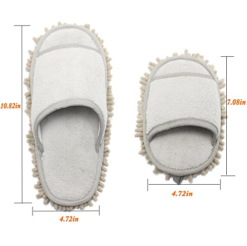 Microfiber Chenille with Mop Ofoot Slippers 6O04nqnxdw