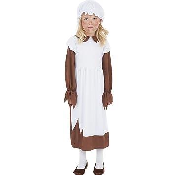 NET TOYS Traje de Criada Medieval para niños Disfraz ...