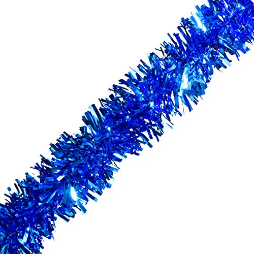 TCDesignerProducts Blue Metallic Twist Garland - 4