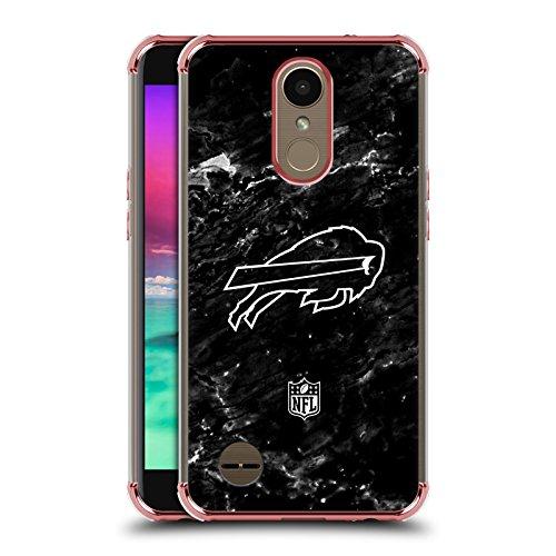 Official NFL Marble 2017/18 Buffalo Bills Rose Shockproof Fender Case for LG K10 (2017)/K20 (Buffalo Case)
