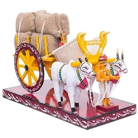 True Facility Kondapalli Toy Handmade Wooden Bullock Cart