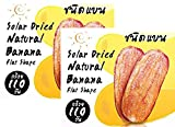 Jiraporn Solar Dried Natural Banana Flat Shape 240g (Pack of 2)