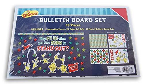 Bulletin Seuss Dr Boards - Dr. Seuss Sneetches Go Bulletin Board Decor Set - 59 Pieces