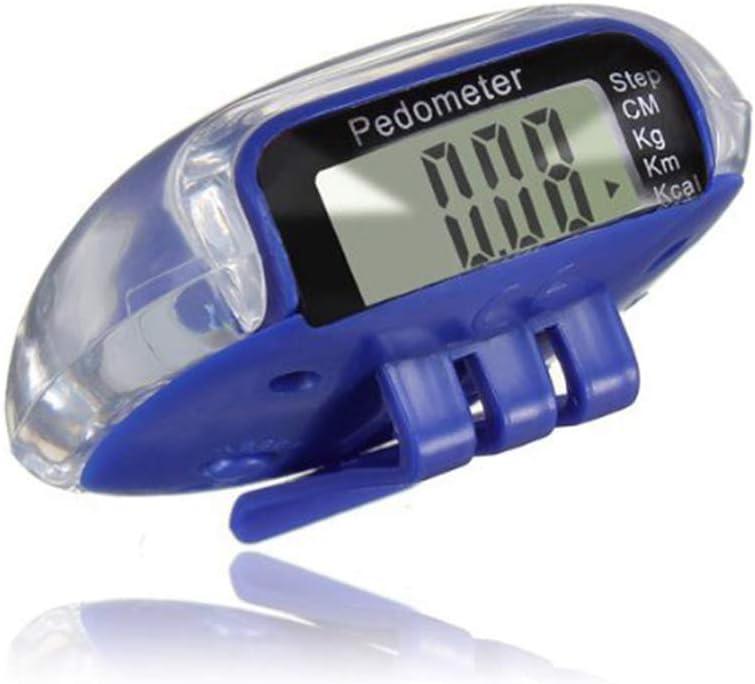 Ogquaton LCD Podom/ètre Num/érique Podom/ètre Multi Marche Pas Distance Distance Compteur de Calories Course Fitness Bleu Pratique et Populaire