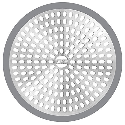 MIBOW Bathroom Shower Stall Drain Protector Drain Cover Drain Catcher Drain Filter Hair Catcher / Strainer / Stainless, Steel & Silicone