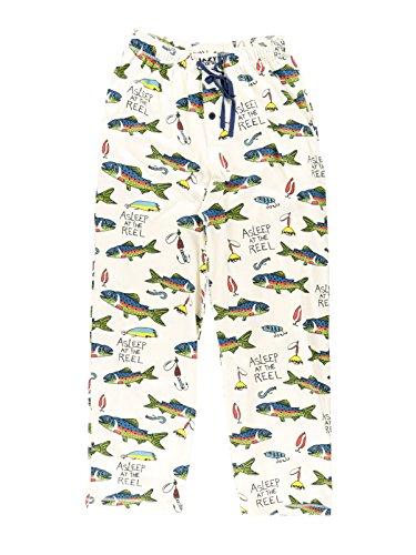 Asleep at The Reel Men's Pajama Pants Bottom by LazyOne | Pajama Bottom for Men (Medium)