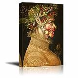 """Four Seasons - Summer by Giuseppe Arcimboldo - Canvas Wall Art- 16"""" x 24"""""""