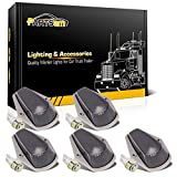 1996 f250 cab lights - Partsam 5X Cab Marker Roof Running Top Clearance Lights 15442 Smoked Cover w/Base House + 5050 White T10 194 LED Bulbs Replacement for 1973-1997 Ford F150 F250 F350 Super Duty Trucks