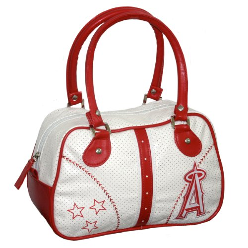Concept One Accessories MLB Los Angeles Angels Ethel Bowler Handbag - White Angels Handbag