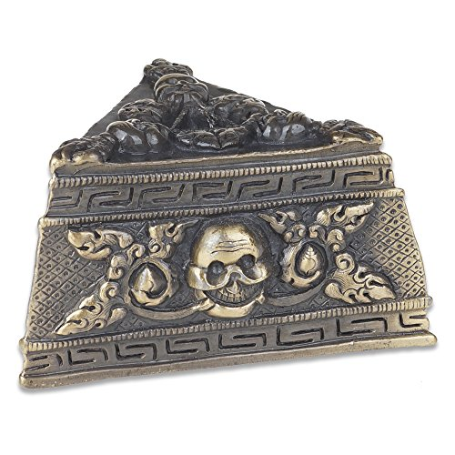 HoGaPlus Nepal Handmade Tibetan Buddhism Phurba Kila Knife Dagger Bronze Stand Base Pedestal Holder for Ritual Ceremonies, Geomancy Ornaments ((No Phurba Ritual Dagger))