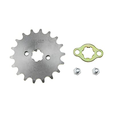 WOOSTAR Front Sprocket 420-18T 17mm for Motorcycle: Automotive [5Bkhe1002288]