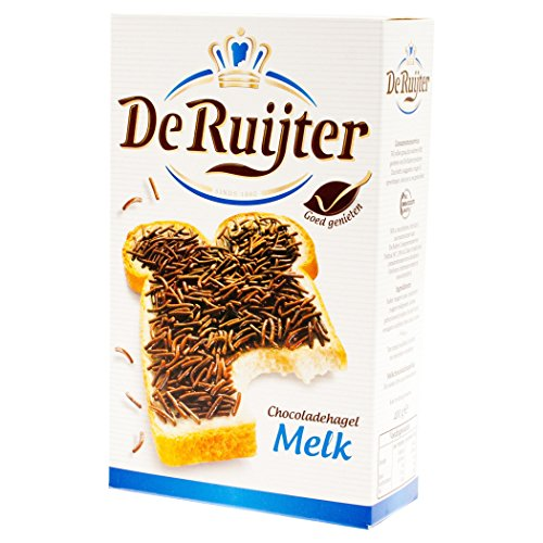 De Ruijter Milk Chocolate Sprinkles / Chocoladehagel Melk, 400g by De Ruijter