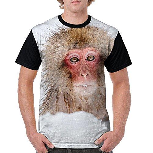 Youth Sock Monkey Costume (Cold Monkey Men's Jersey Shirt Raglan Short Sleeve Lightweight Print T-Shirts Casual Blouses Baseball Shirt)