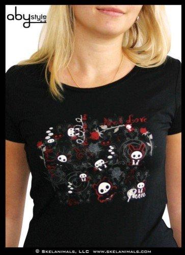 Love Talla L para Abyssecorp negra Skelanimals Dark camiseta mujer vnHxPPfEw0