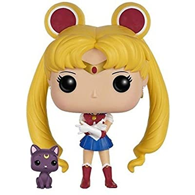 Funko POP Anime: Sailor Moon with Luna Action Figure: Funko Pop! Animation:: Toys & Games