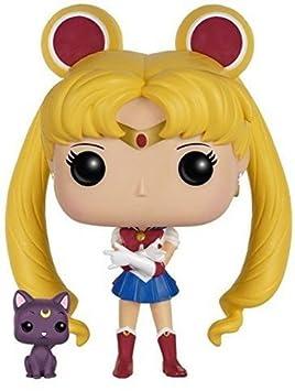 Funko POP Anime: Sailor Moon with Luna Action Figure Funko Pop! Animation: 6350 Accessory Consumer Accessories