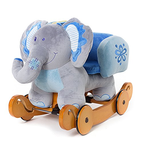 Labebe Modern Plush Rocking Horse with Padded Animal for Little Toddlers Kids Baby Boys & Girls (6-36 Months),