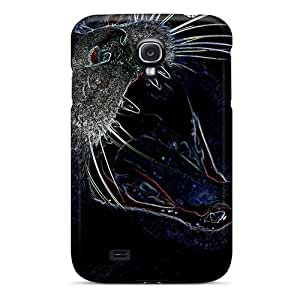Durable Bad Kitty Contour Drawing Back Case/cover For Galaxy S4