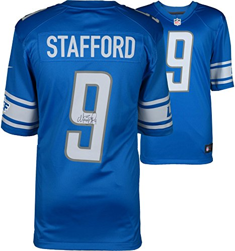 Matthew Stafford Detroit Lions Autographed Blue Nike Limited Jersey - Fanatics Authentic Certified - Autographed NFL Jerseys ()