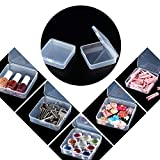 24 Packs Small Clear Plastic Beads Storage
