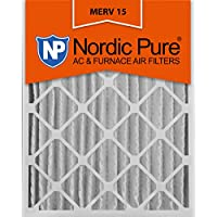 Nordic Pure 16x25x4 (3-5/8 Actual Depth) MERV 15 Pleated AC Furnace Filter, Box of 2