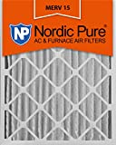Nordic Pure 16x25x4M15 16-Inch by 25-Inch by 4-Inch MERV 15 AC Furnace Air Filter, 6-Piece