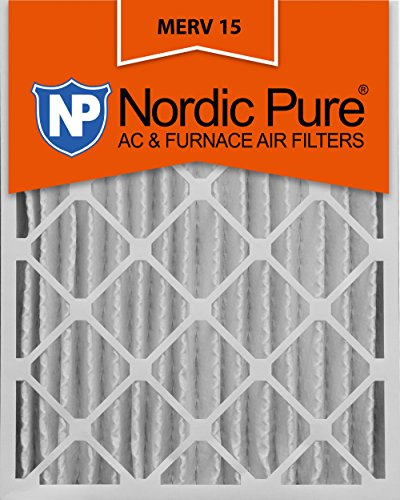 Nordic Pure 16x25x4M15 16-Inch by 25-Inch by 4-Inch MERV 15 AC Furnace Air Filter, 6-Piece by Nordic Pure
