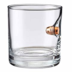 #bulletproof 11oz rocks glass with real bullet from the father and son team at BenShot Each rocks glass is hand-sculpted to create a unique drinking masterpiece. 100% MADE in the USA 11oz glass made from heavy, high-quality glass Real Lead-fr...