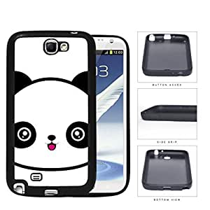 Cute Panda Face Anime Rubber Silicone TPU Cell Phone Case Samsung Galaxy Note 2 II N7100 Kimberly Kurzendoerfer