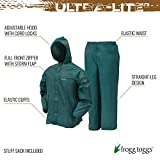 FROGG TOGGS Men's Ultra-Lite2 Waterproof Breathable Protective Rain Suit, Green, Small