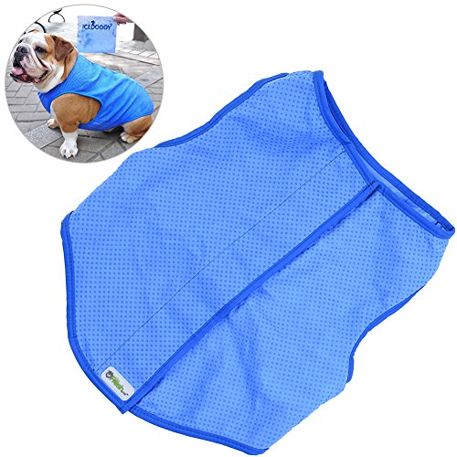 Petacc Pet Cooling Jacket Dog Ice-cooling Harness Pet Mesh Vest with Velcro Strap, Suitable for Small and Medium-sized Dogs