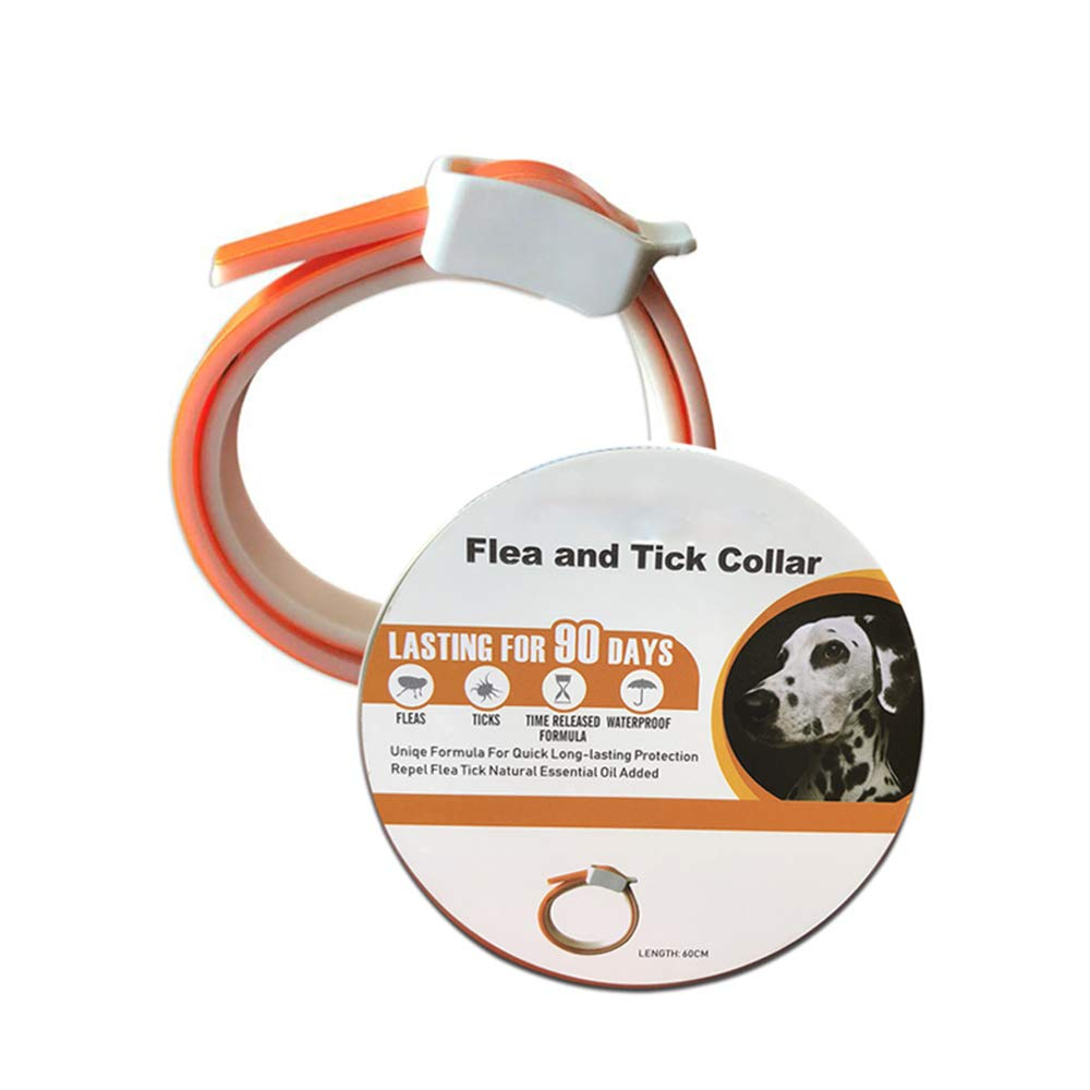 UTOPIAY Flea and Tick Collar for Dogs,Repellent Pest Control Collars-Natural Plant Essential Oil Formula 3 Months Protection,Adjustable 23'' Length for Small Medium Large Pets