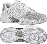 K-Swiss Women's Bigshot Light 3 Tennis Shoe-11 B(M) US-White/Silver